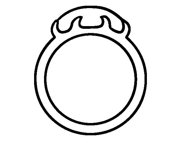 Dibujos Para Colorear De Anillos De Matrimonio Dibujo De Anillo