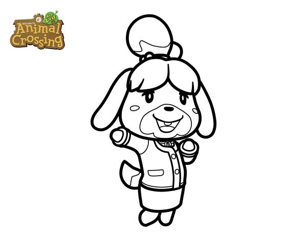 Dibujo de Animal Crossing: Canela para Colorear - Dibujos.net