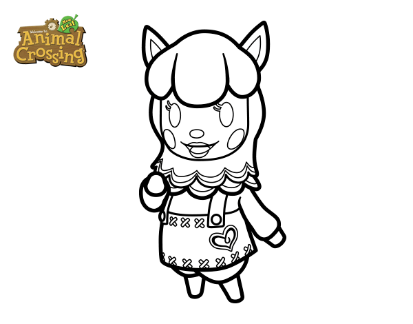 Colorea a tus personajes favotitos de Animal Crossing   Dibujos.net