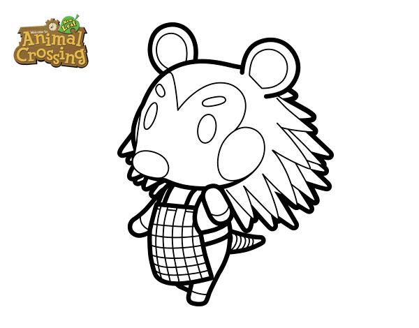 Dibujo De Animal Crossing Pili Para Colorear