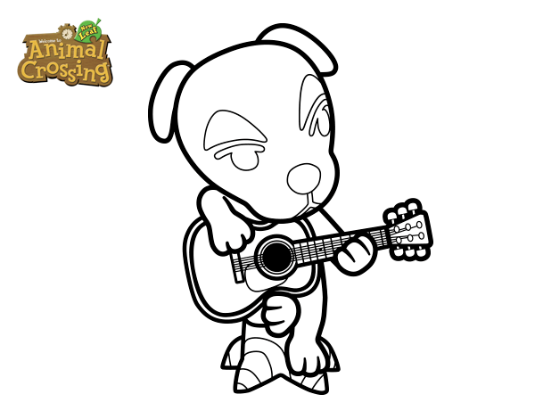 Dibujo de Animal Crossing: Totakeke para Colorear   Dibujos.net
