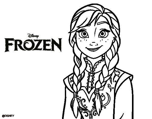 Dibujo de Anna de Frozen para Colorear - Dibujos.net