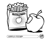 Dibujo de Apple fries para colorear
