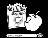 Dibujo de Apple fries para colorear