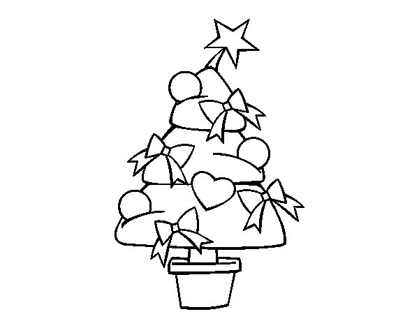 Dibujo de rbol de navidad 3 para colorear for Dibujos de arboles de navidad