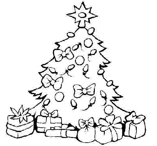 Dibujo de Árbol de navidad para Colorear