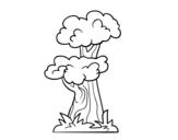 Dibujo de Árbol japonés para colorear