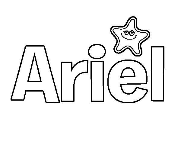Dibujo de Ariel para Colorear - Dibujos.net