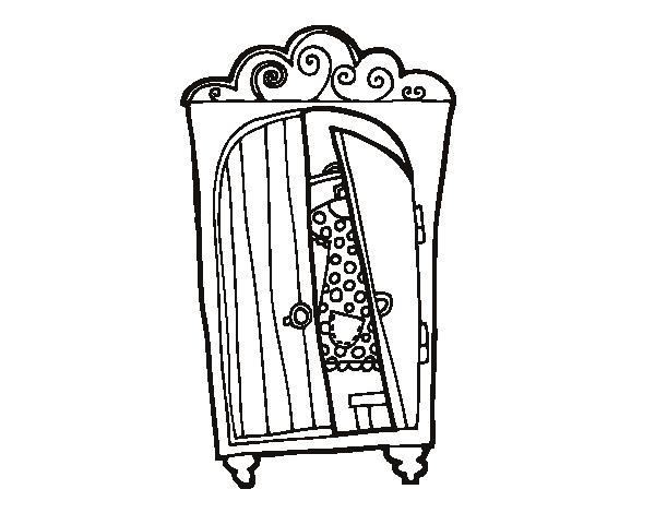 Dibujo de Armario ropero para Colorear - Dibujos.net