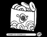 Dibujo de Aros de cebolla