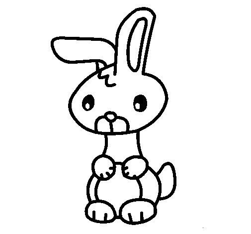 Dibujo de Art el conejo para Colorear