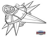Dibujo de Astorblast con Sun Runner para colorear