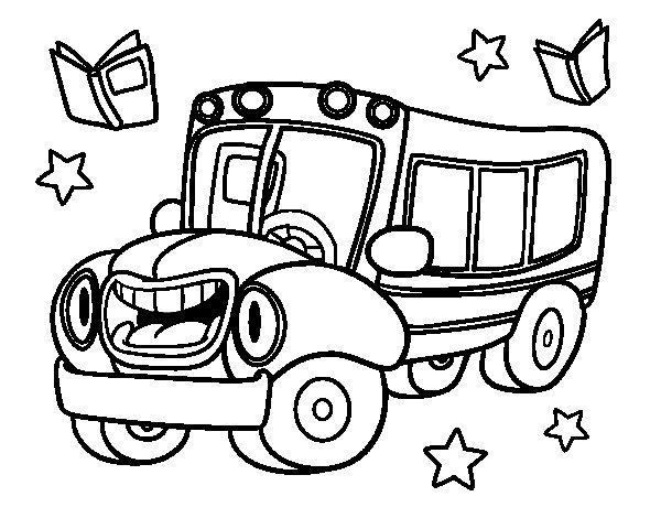 Dibujo de Autobús animado para Colorear