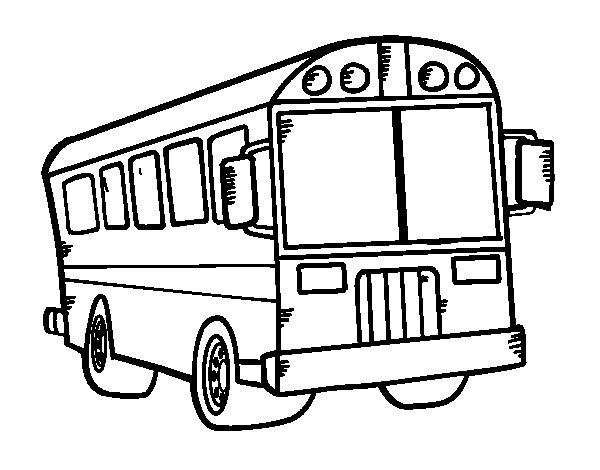 Dibujo de Autobús del colegio para Colorear