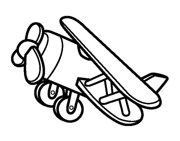 Dibujo de Avión acrobático para Colorear - Dibujos.net