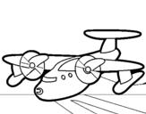 Dibujo de Avión con aspas para colorear