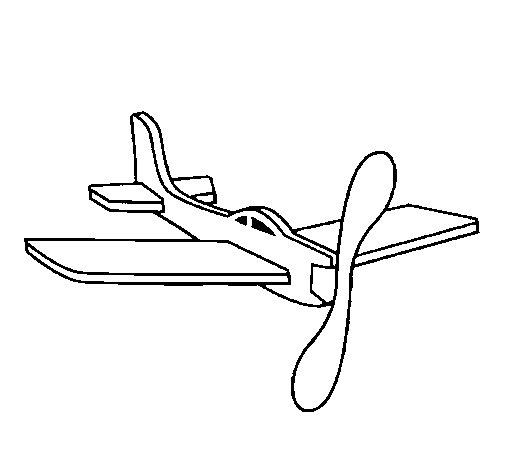 Dibujo de Avión de cartón para Colorear