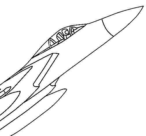 Dibujo de Avión de caza para Colorear