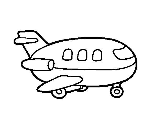 Dibujo de Avión de madera para Colorear - Dibujos.net