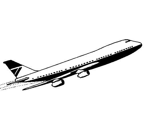 Dibujo de Avión en el aire para Colorear