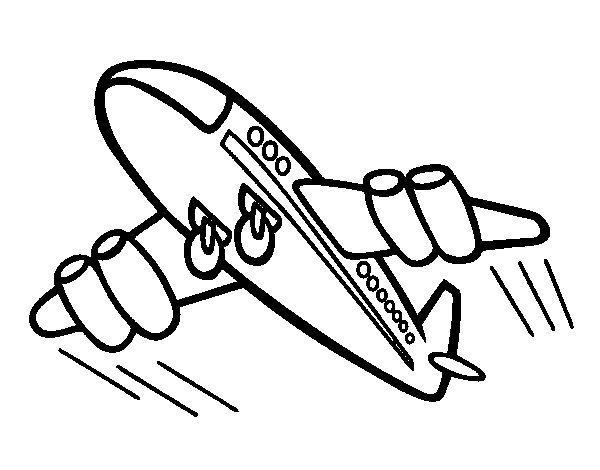 Dibujo de Avión rápido para Colorear
