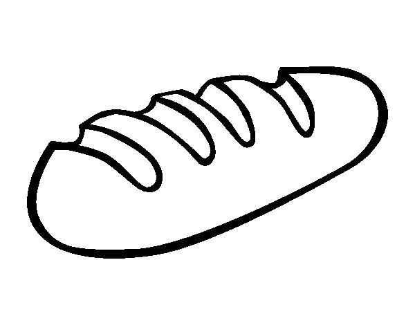 Dibujo de Baguette para Colorear - Dibujos.net