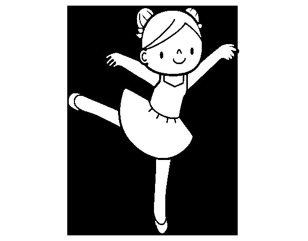 Dibujo de Bailarina de ballet para Colorear