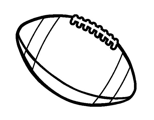 Dibujo de Balón de fútbol americano para Colorear - Dibujos.net
