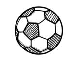 Dibujo de Balón de fútbol para colorear