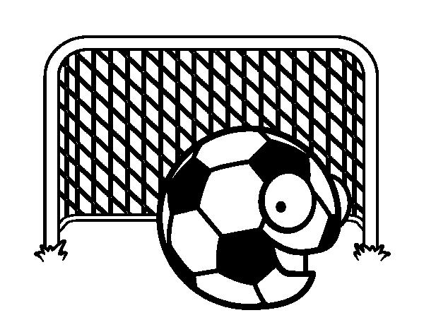 Dibujo De Un Portero De Fútbol Para Colorear: Portero Para Colorear