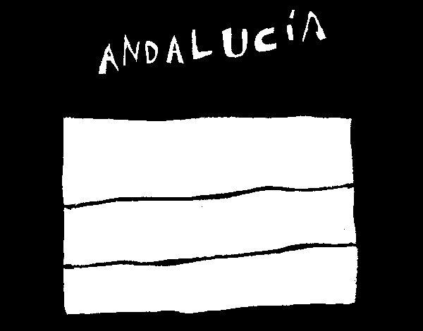 Dibujo de Bandera Andalucía para Colorear