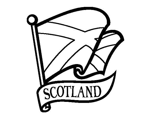 Dibujo de Bandera de Escocia para Colorear