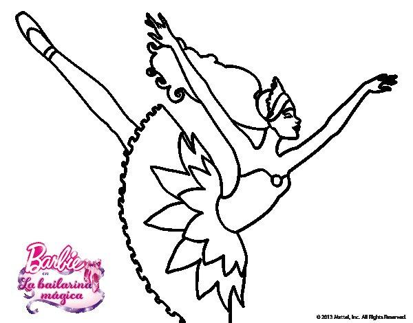 Dibujos Para Colorear E Imprimir De Barbie: Dibujo De Barbie En Cuarto Arabesque Para Colorear