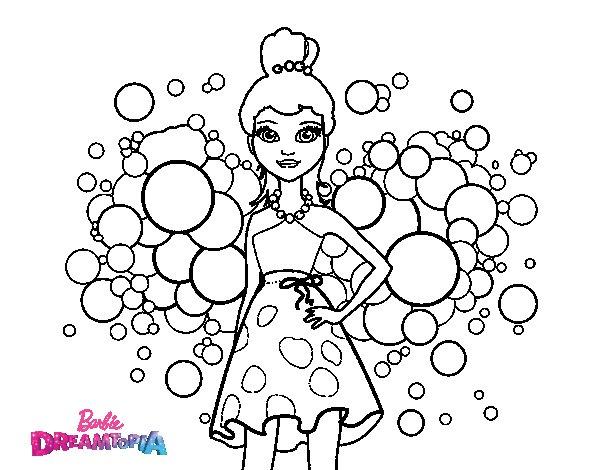 Dibujos Para Colorear E Imprimir De Barbie: Dibujo De Barbie Princesa Rosa Para Colorear