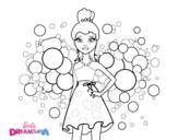 Dibujo de Barbie Princesa Rosa para colorear