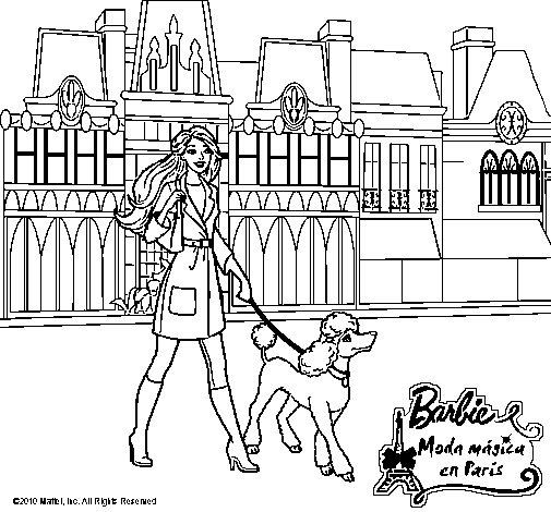 Image Of Dibujos Para Colorear De Barbie Moda En Paris Dibujo de El ...