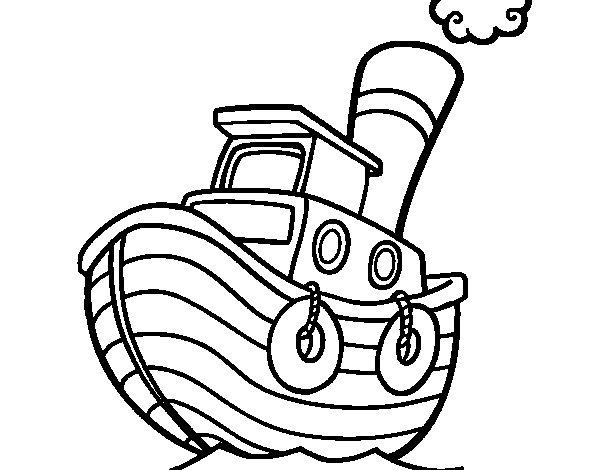 Dibujo de barco de madera para colorear - Madera para pintar ...