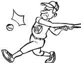 Dibujo de Bateador para colorear
