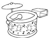 Dibujo de Bateria para colorear