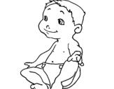Dibujo de Bebe III para colorear