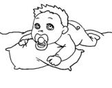 Dibujo de Bebe jugando
