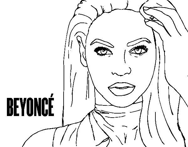Dibujo de Beyoncé I am Sasha Fierce para Colorear - Dibujos.net