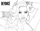 Dibujo de Beyoncé para colorear