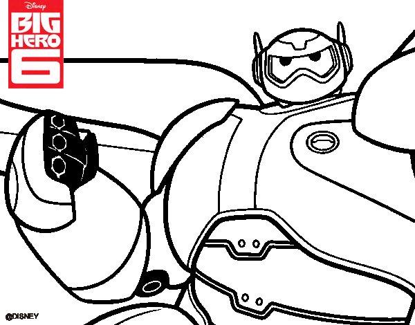 Dibujo de Big Hero 6 Baymax para Colorear - Dibujos.net