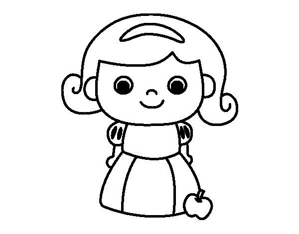 Dibujo de Blancanieves para Colorear - Dibujos.net
