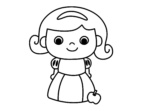 Dibujo facil de blancanieves - Imagui