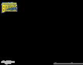 Dibujo de Bob Esponja - Desafinardo corriendo para colorear