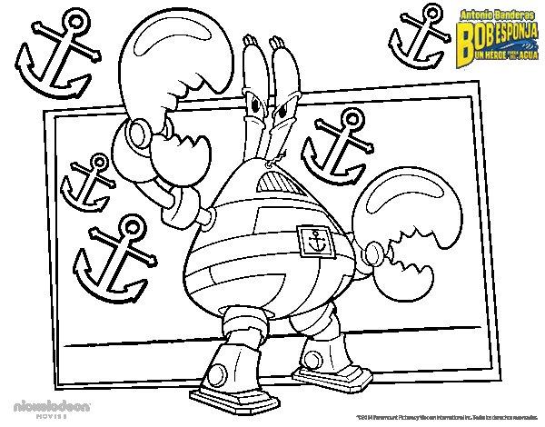 Dibujo de Bob Esponja - Sir pinchamucho para Colorear