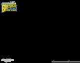 Dibujo de Bob Esponja - Sr Súper Dúper y burbuja invencible para colorear
