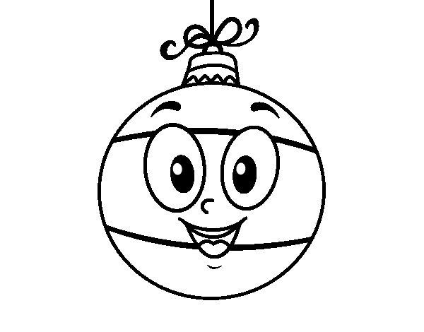 Dibujo de bola de rbol de navidad para colorear - Dibujos de pintar de navidad ...